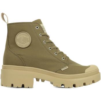 Chaussures Femme Boots Palladium Pallabase Twill vert
