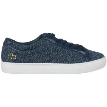 Chaussures Femme Baskets basses Lacoste L 12 12 317 2 Caw Blanc, Bleu marine