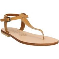 Chaussures Femme Votre prénom doit contenir un minimum de 2 caractères Spartiates Phoceennes Bali cuir Femme Naturel Beige