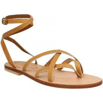 Chaussures Femme Votre prénom doit contenir un minimum de 2 caractères Spartiates Phoceennes Linda cuir Femme Naturel Beige