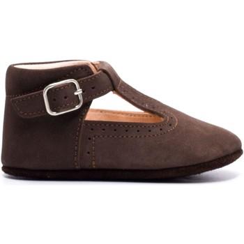 Chaussures Enfant Chaussons bébés Boni & Sidonie Chaussons en cuir souple - JOHAN Daim Marron