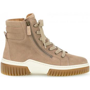 Chaussures Femme Baskets mode Gabor Baskets montantes daim talon  plat Beige