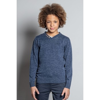 Vêtements Garçon Pulls Deeluxe Pull SINGLE Navy Mel