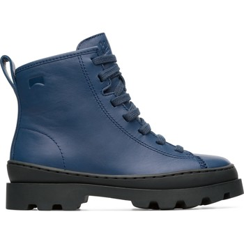 Chaussures Garçon Bottes Camper Bottines cuir BRUTUS bleu