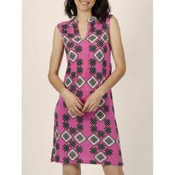 Vêtements Femme Robes courtes Admas Robe estivale sans manches Art Deco fuchsia Fuchsia