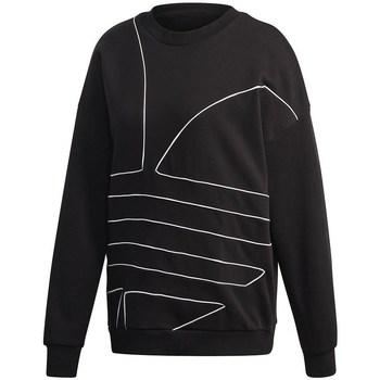Vêtements Femme Sweats adidas Originals Large Logo Sweatshirt Noir