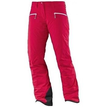 Vêtements Femme Pantalons Salomon Whitecliff Gtx W Rouge