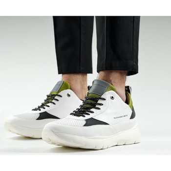 Chaussures Homme Baskets mode Alexander Smith LONDON EYE bianco-giallo