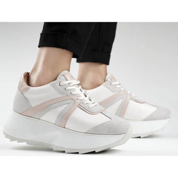 Chaussures Femme Baskets mode Alexander Smith CHELSEA bianco-rosa