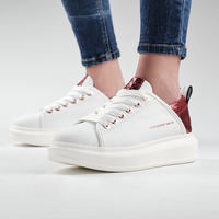 Chaussures Femme Baskets mode Alexander Smith WEMBLEY bianco-rosso