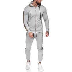 Vêtements Homme Pantalons de survêtement Monsieurmode Survêtement fashion homme Survêt 1424 gris clair Gris