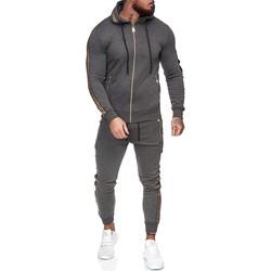 Vêtements Homme Pantalons de survêtement Monsieurmode Survêtement homme fashion Survêt 1424 gris fonce Gris