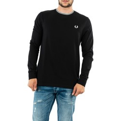 Vêtements Homme T-shirts manches longues Fred Perry twin tipped 102 black noir