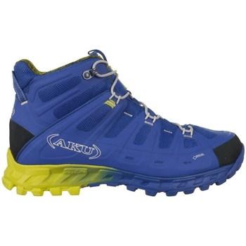 Chaussures Homme Randonnée Aku Selvatica Mid Gtx Goretex Bleu, Jaune