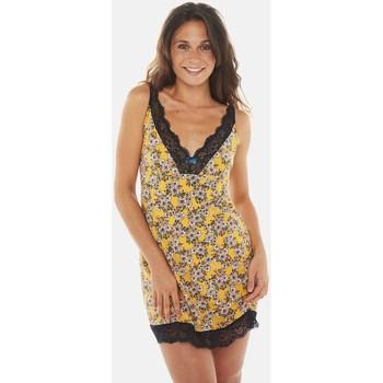 Vêtements Femme Pyjamas / Chemises de nuit Pommpoire Nuisette moutarde/pétrole Evita Jaune