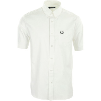 Vêtements Homme Chemises manches longues Fred Perry Oxford Shirt blanc