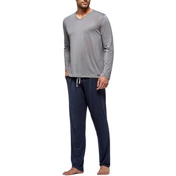 Vêtements Homme Pyjamas / Chemises de nuit Impetus Travel Pyjama long pour homme en lyocell Travel gris taupe Gris