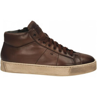 Chaussures Homme Baskets mode Santoni POLAC.8OCC. ZIP BASKET cioccolato