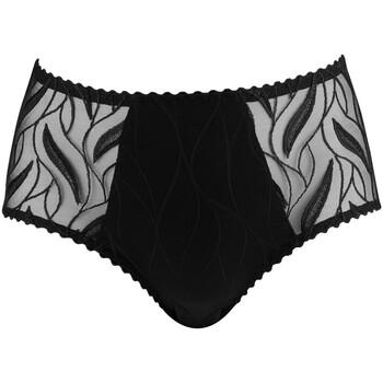 Sous-vêtements Femme Culottes & slips Louisa Bracq Maxi culotte en tulle brodé Julia Noir Noir