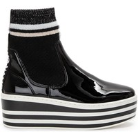 Chaussures Femme Bottines No Name BOOST SOCKS PATENT Noir