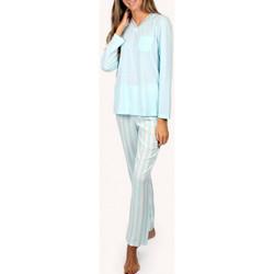 Vêtements Femme Pyjamas / Chemises de nuit Admas Tenue d'intérieur pyjama haut et pantalon longs Classic Bleu