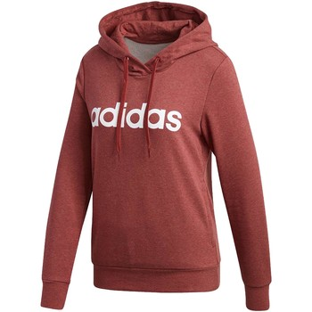 Vêtements Femme Sweats adidas Originals W ESS LIN FELPA CON CAPPUCCIO BORDEAUX Rouge