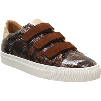 Chaussures Femme Baskets basses K.mary Clany Marron/Doré cuir