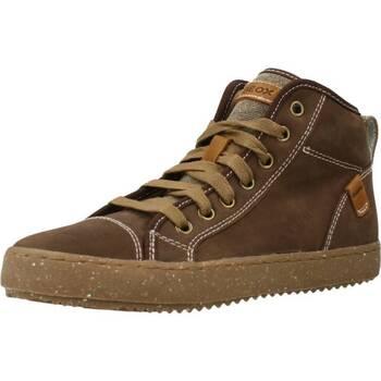 Chaussures Garçon Baskets montantes Geox J ALONISSO BOY Marron