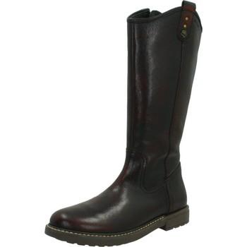 Chaussures Fille Bottes ville Geox J ECLAIR G.E Marron