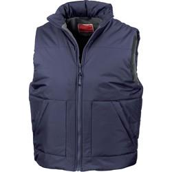 Vêtements Gilets / Cardigans Result Doudoune Sans Manche Kariban Doublé Polaire bleu marine