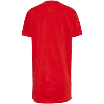 Vêtements Femme Polos manches courtes Tommy Jeans TJW TOMMY LOGO TEE DRESS rouge