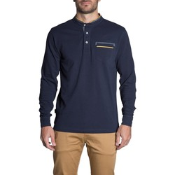 Vêtements Homme Polos manches longues Deeluxe Polo FJORD Navy