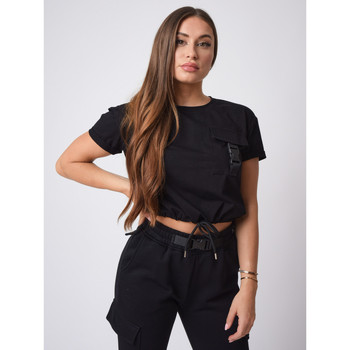 Vêtements Femme Tops / Blouses Project X Paris Tee Shirt Noir