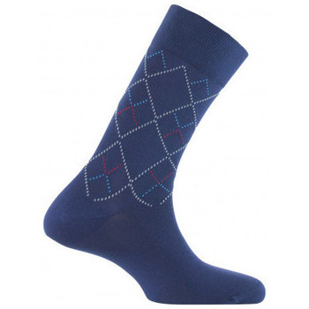 Accessoires Homme Chaussettes Kindy Mi-chaussettes all over losanges MADE IN FRANCE Marine
