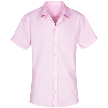 Vêtements Homme Chemises manches courtes Promodoro Chemise Oxford Manches Courtes grandes tailles Hommes rose