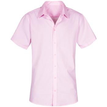 Vêtements Homme Chemises manches courtes Promodoro Chemise Oxford Manches Courtes Hommes rose