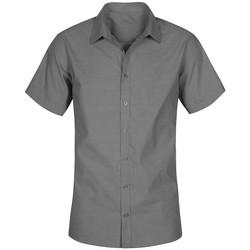 Vêtements Homme Chemises manches courtes Promodoro Chemise Oxford Manches Courtes Hommes gris charbon