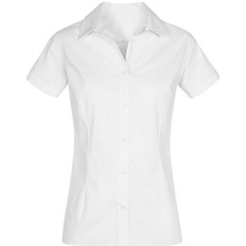 Vêtements Femme Chemises / Chemisiers Promodoro Chemise Oxford Manches Courtes Femmes blanc
