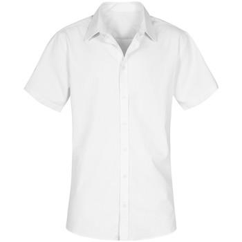 Vêtements Homme Chemises manches courtes Promodoro Chemise Oxford Manches Courtes grandes tailles Hommes blanc