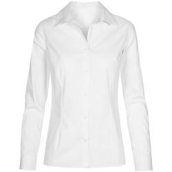 Vêtements Femme Chemises / Chemisiers Promodoro Chemise Oxford Manches Longues Femmes blanc