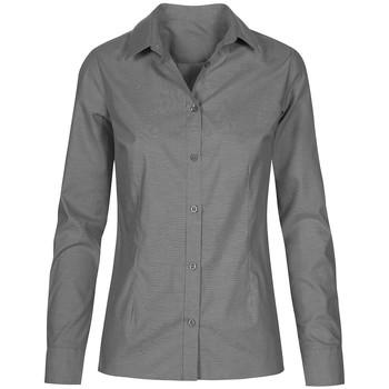Vêtements Femme Chemises / Chemisiers Promodoro Chemise Oxford Manches Longues Femmes gris foncé