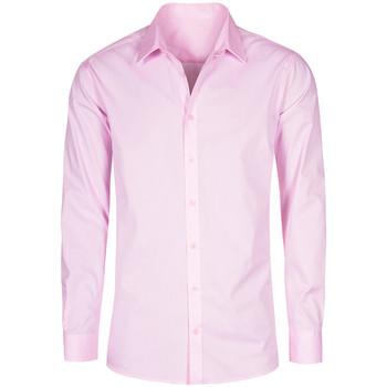 Vêtements Homme Chemises manches longues Promodoro Chemise Oxford Manches Longues grandes tailles Hommes rose