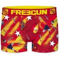 Sous-vêtements Homme Boxers Freegun Boxer Homme Microfibre ESP Rouge Jaune PREMIUM Rouge