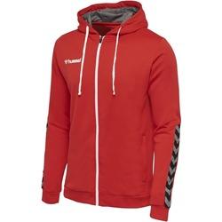 Vêtements Enfant Sweats Hummel Sweatshirt enfant  zip Authentic Poly rouge