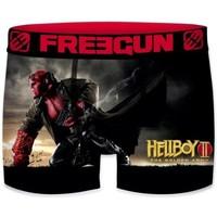 Sous-vêtements Homme Boxers Freegun Boxer Homme Microfibre EVI Noir Rouge UNIVERSAL Noir