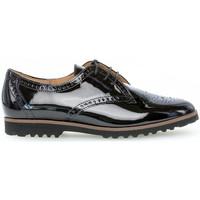 Chaussures Femme Derbies & Richelieu Gabor Derbies lack talon  talon bloc dessus/effet galvanisé Noir