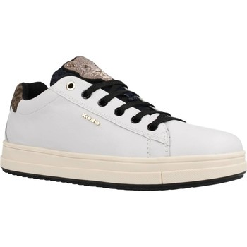 Chaussures Fille Baskets basses Geox J REBECCA GIRL Blanc