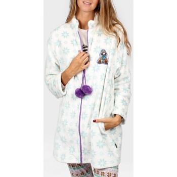 Vêtements Femme Pyjamas / Chemises de nuit Admas Veste d'intérieur The Foxes Santoro Bleu Ciel