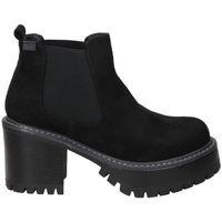 Chaussures Femme Bottines Emmshu BOTINES  HEAT MODA JOVEN BLACK Noir