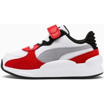 Chaussures Enfant Multisport Puma Chaussures Sportswear Baby  Rs 9.8 Space Ac Inf Blanc gris et rouge